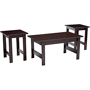 Sauder 412935 Table Set Cherry  sc 1 st  Amazon.com & Amazon.com: Coaster Home Furnishings 3 Piece Faux Marble Top Coffee ...