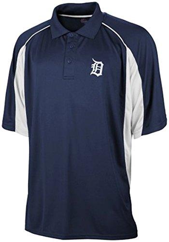Majestic Detroit Tigers MLB Men's Birdseye Navy Blue Polo Shirt Big & Tall Sizes (4XT)