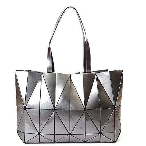 KAISIBO Unique Design Geometric Lattice Handbag Totes Purses for Women(K3138SR) by KAISIBO