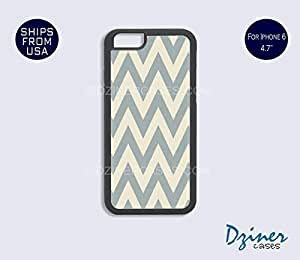 Case Cover For Apple Iphone 4/4S model - Grey Chevron