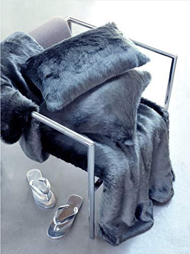 evelyne prelonge(エベリンプロロンジェ) スロー ハーフ140×100cm (Anthracite Grey) B07KFBLS76