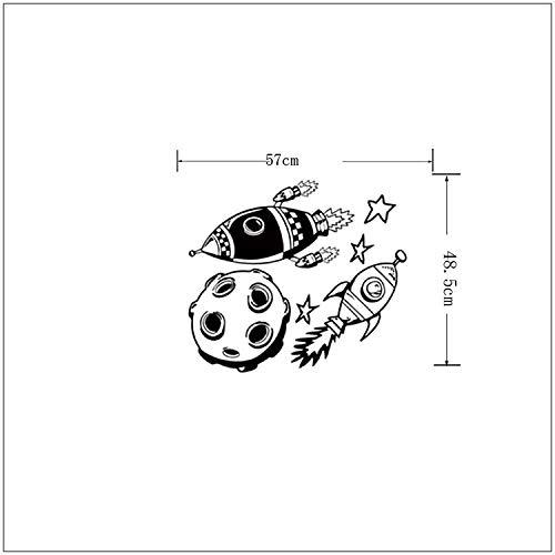 Aeroespacial cohete planeta vinilo tatuajes de pared decoración ...
