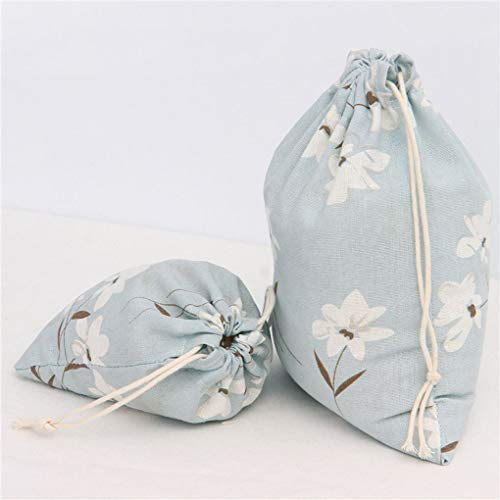Party Regard 印花棉麻独家收纳批发束口抽绳茶叶礼品糖果包装袋 Bag Cotton Wedding Drawstring Candy Linen Gift 大号 Sack Tea Jewelry vYwPZSq1