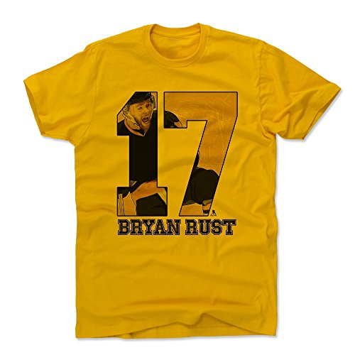 500 LEVEL Bryan Rust Cotton Shirt X-Large Gold - Pittsburgh Hockey Men's Apparel - Bryan Rust Game D