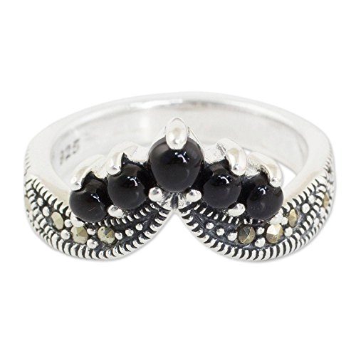 (NOVICA Marcasite .925 Sterling Silver Handcrafted Ring, Princess Crown')