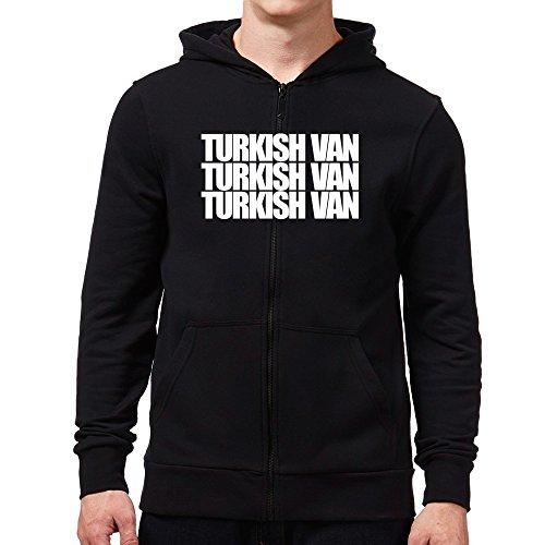 Eddany Turkish Van three words Felpa con cappuccio