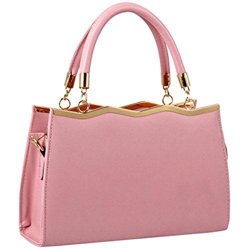 Bandoulière Sac Sac Cuir De D'Épaule PU Main Cabas Mode Filles Shopping Pour A Sac À Minetom Femme Bonbons Pink Sac Couleur p6qS77A