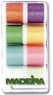 Madeira 8031 Cotona No.80 Embroidery Box with 18 Bobbins of 200 m Each