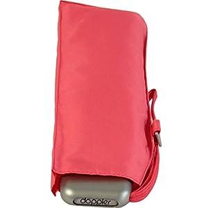Doppler FS 18 Women's Pocket Umbrella Mini Carbon Steel Slim Extremely Flat, Orange (Orange) – 72263125