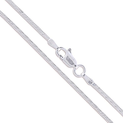 Sterling Silver Magic Square Snake Chain 1.3mm Solid 925 Italy New Necklace 16
