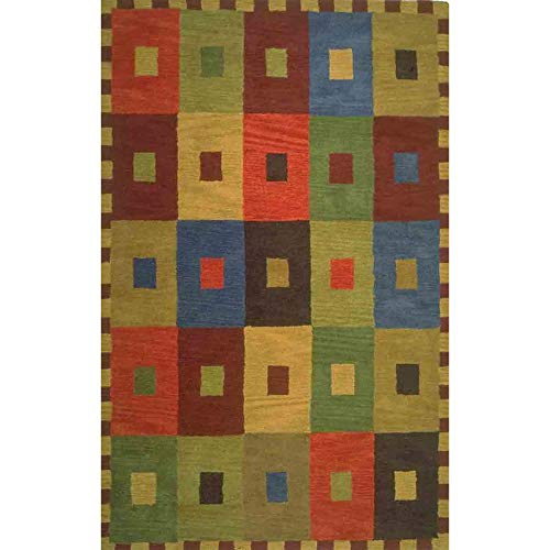Liora Manne Inca Square Rug, 5 by 8-Feet, Multi