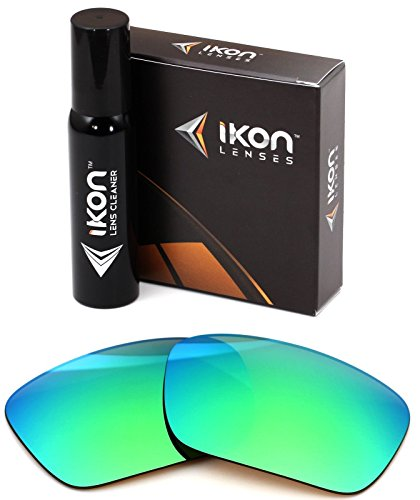 Polarized Ikon Iridium Replacement Lenses For Oakley Canteen 2014 Sunglasses - Emerald Green - Lenses Iridium Emerald