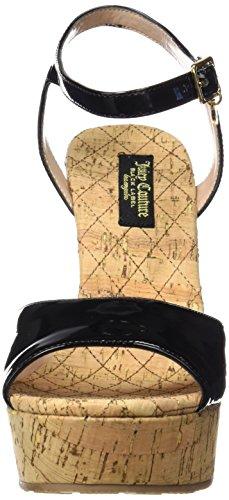 Juicy Couture Oriann, Sandalias con Plataforma para Mujer Negro (Pitch Black)