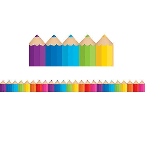 Teacher Created Resources 3496 Colored Pencils Die-Cut Border Trim