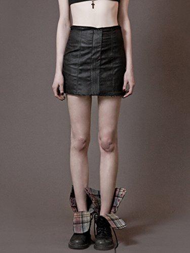 structed Waxed Denim Skirt (Denim London Skirt)