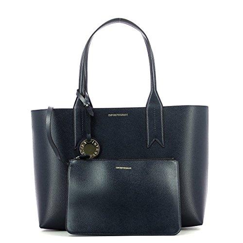 Logo Femme Emporio Marine Shopping Bleu Handbag Noir Armani gwtxrtc5qB