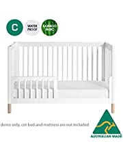 Australian Made Fully Fitted Waterproof Bamboo Cotton Terry Mattress Protector Machine Washable (Baby Cot)