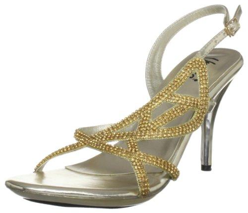 Unze Evening Sandals L18235W - Sandalias para mujer Dorado
