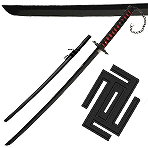 Armory Replicas Black Beauty II Half Moon Chain Decorative Traditional Japanese Katana Sword (Armory Replicas Weapons)