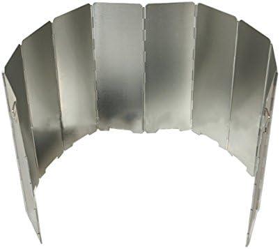 ... pantallas plegable gas estufa viento Escudo ultraligero al aire libre cocina estufa 10 placas parabrisas, Gas Picnic estufa viento protector de escudo
