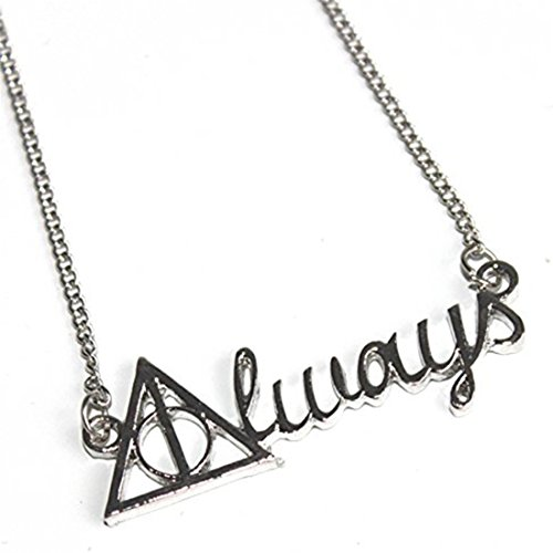 VWH Silver Always Necklace Severus Snape Necklace Harry Potter Jewelry