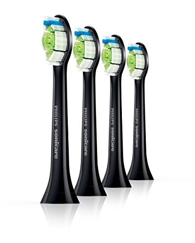 philips-diamond-clean-hx6064-33-standard-replacement-brush-heads-black-pack-of-4-by-philips-sonicare