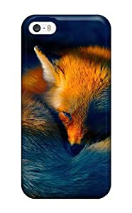 New Style 4097920K12602951 Excellent Design Sleepy Little Fox Case Cover For Iphone 5/5s