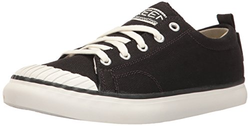 KEEN Women's Elsa Sneaker, Black/Star White, 9 M US
