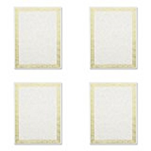 Geographics - Foil Stamped Award Certificates, 8-1/2 x 11, Gold Serpentine Border, 12 per Pack ()