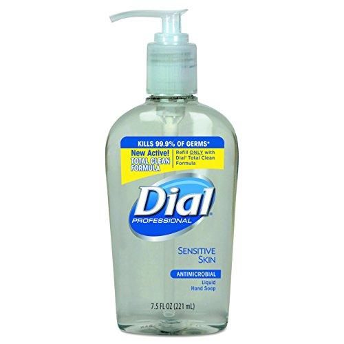dial-professional-82834-liquid-dial-antimicrobial-soap-for-sensitive-skin-decorative-pump-75-oz-case