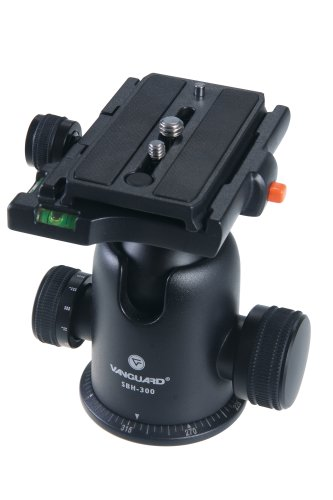 Vanguard SBH-300 Large-Format Magnesium Alloy Ballhead with Two Onboard Bubble Levels ()