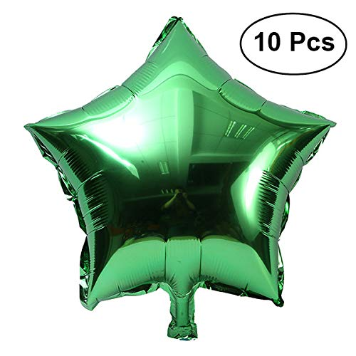 (TOYMYTOY Five-Point Star Foil Balloons Party Decoration,Green,18