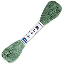 "Olympus Sashiko Thread 20m skein col.7 ""Green""- Japanese Embroidery & Quilting"