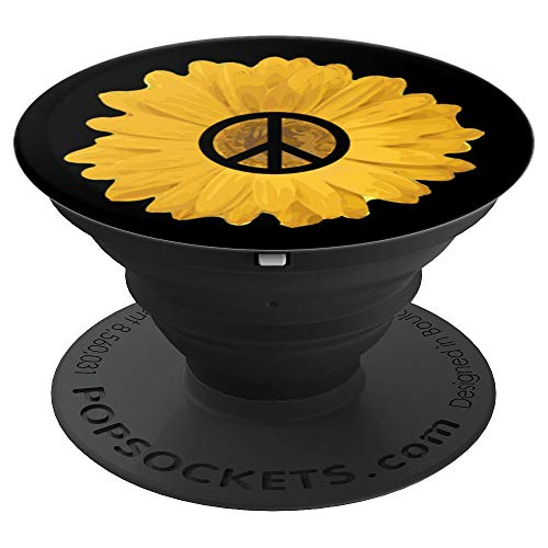 PEACE SIGN LOVE 60s 70s Hippie costume Men Women Gift - PopSockets Grip and Stand for Phones and Tablets]()