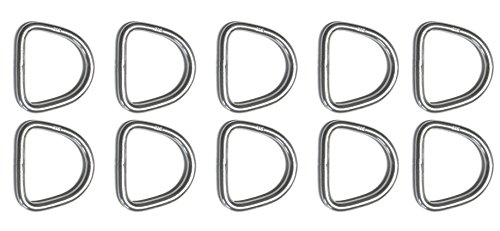 10 Pieces Stainless Steel 316 D Ring Welded 4mm x 30mm (5/32