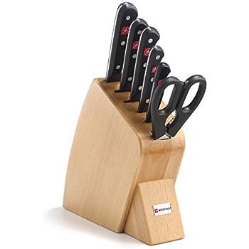 Gourmet 7 Piece Jumbo Studio Knife Block Set Finish: Natural