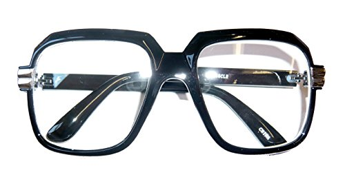 4065 Black 80s Retro Hip Hop Eyeglasses Oversized Clear - 1980 Glasses