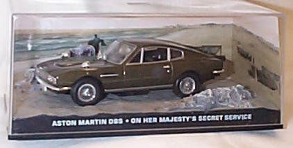Universal Hobby James Bond 007 on her majesty's Secret Service Aston Martin DBS Film Scene car 1.43 Scale diecast Model