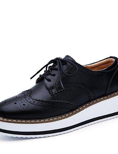 plataforma Casual 5 Black Zapatos Hug Bermellón Plano Uk6 Eu39 Uk3 oxfords 5 Mujer Black Cn35 negro Cn40 us5 Eu36 cuero De Vestido 5 5 us8 tacón Njx exterior wvYxCqg1q