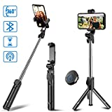 Selfie Stick Tripod, MZTDYTL Bluetooth Extendable Selfie Stick with Wireless Remote Shutter