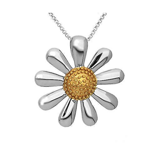 Paul Wright 925 Sterling Silver Daisy Pendant Necklace, for sale  Delivered anywhere in USA