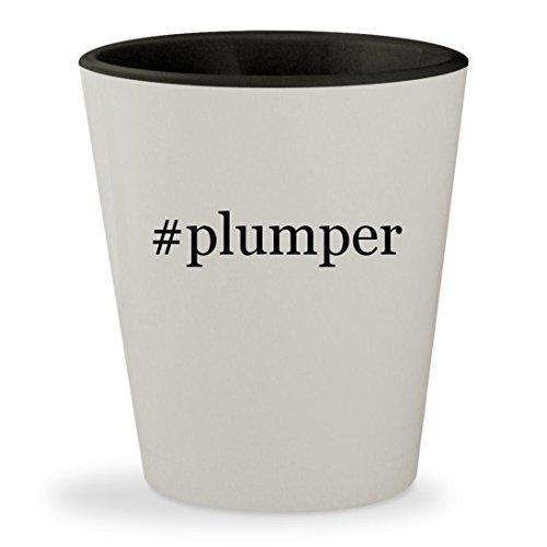 Sovage Lip Plumper - #plumper - Hashtag White Outer & Black Inner Ceramic 1.5oz Shot Glass