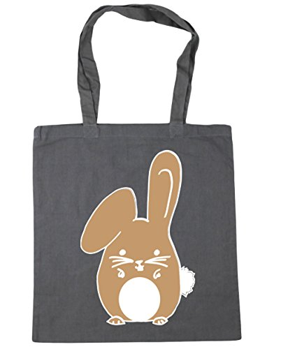 Shopping Beach rabbit Tote Gym Graphite 42cm HippoWarehouse Bag Bunny litres x38cm Grey 10 Beige qwTAxYI