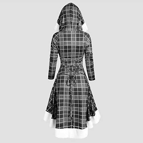 SUMTTER Trenchcoat Damen lang Cardigan Einfarbig Winterjacke Dicke Mantel mit Zweireihig Knopfleiste