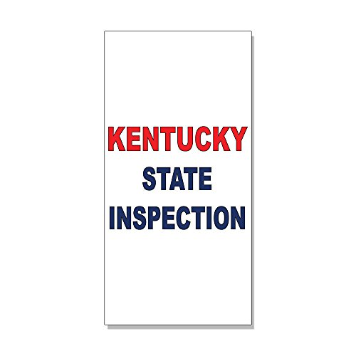 (Kentucky State Inspection Red Blue DECAL STICKER Retail Store Sign Sticks to Any Surface)