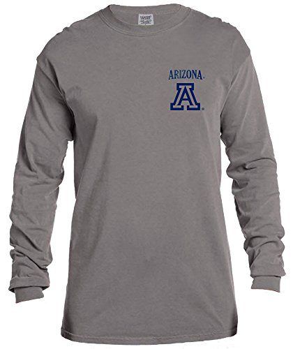 na Wildcats Vintage Poster Long Sleeve Comfort Color Tee, Small,Grey (Arizona Wildcats Basketball Jersey)