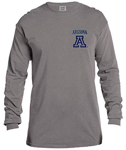 - NCAA Arizona Wildcats Vintage Poster Long Sleeve Comfort Color Tee, Large,Grey