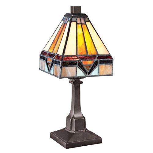 Fine Art Lighting T614 84 Glass Cuts Mini Tiffany Table Lamp, 6 x 12 (Tiffany Art Mini Glass)