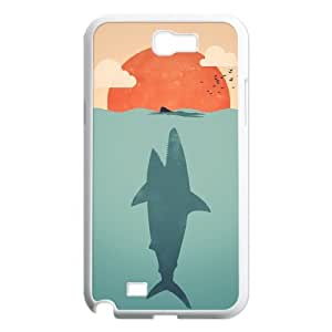 Fashion Design Custom Phone Case for Samsung Galaxy Note 2 N7100 - Shark Attack DIY Cover Case JZQ-900113