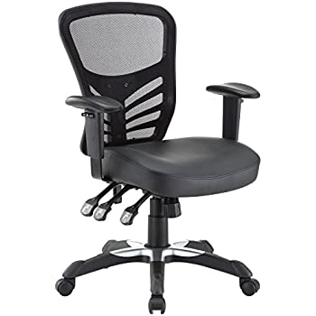 Superb Modway Articulate Mesh Office Chair With Fully Adjustable Black Vinyl Seat
